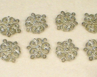 8 Pewter necklace connectors