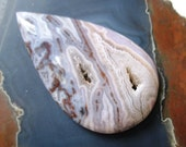 Laguna Lace Agate Large Druzy Cabochon Destash