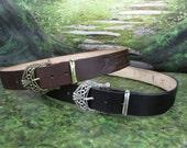 Leather Belt with Elder Futhark Runes, Viking Belt, Rune Belt, Asatru Belt, Costume Belt, Norse Belt, Garb Belt, SCA Belt, Handmade Belt
