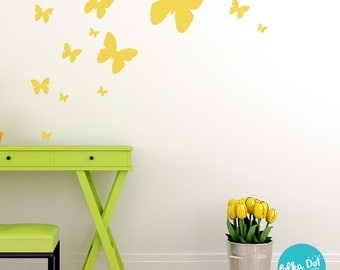 Peel and Stick Butterfly Wall Decals | Long Life | Apartment Safe - PAS011