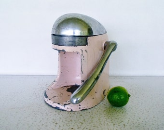 Pink Juice-O-Mat Fruit Juicer Vintage Cast Iron Barware