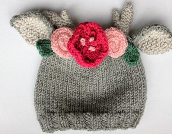 Knitting Pattern Baby Hat Animal : PDF Pattern Baby animal ear hat knit baby hat newborn
