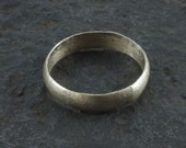 Ancient Viking Silver over Bronze Wedding Band Jewelry C.866-1067A.D. Size 11 1/4    (20.7mm)(Brr1066)