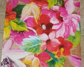 """Leather 12""""x12"""" Huge colorful Flower Printed Pattern Cow hide 2.5 oz/ 1 mm #3 PeggySueAlso close out"""