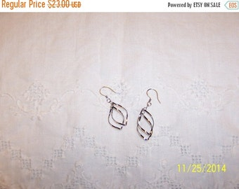 20 OFF EVERYTHING Vintage Twisted Earrings. Sterling Silver.