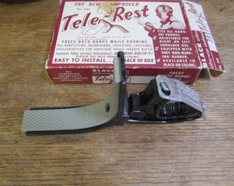 Tele-Rest. Shoulder rest for telephone handset w  Box. RENNEKER Tele-rest. American made. Telephone Rest# 300. Hands free phone