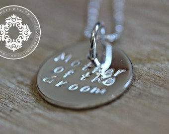 Mother of the Groom Necklace, Personalized Necklace, Keepsake,  Wedding gifts,  Mother of the Bride gift, Mother of the Groom gift