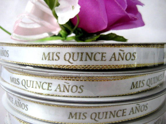 Sale mis quince anos with gold wording for quinceanera - Mis 50 anos ...
