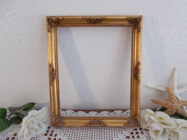 vintage ornate gold picture frame 8 x 10 photo decoration. Black Bedroom Furniture Sets. Home Design Ideas