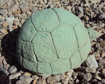 Chubby Garden Turtle, Flat Mint Green, Garden Decor