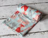 Fox Double Minky Baby Crib Blanket