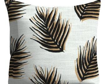 Nate Berkus Pillows, Couch Pillows, decorative pillows, Black brown Pillows, leaf Throw Pillows, pillows designer pillows