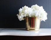 Brass planter, vintage brass vase, bowl, fluted brass planter, pot