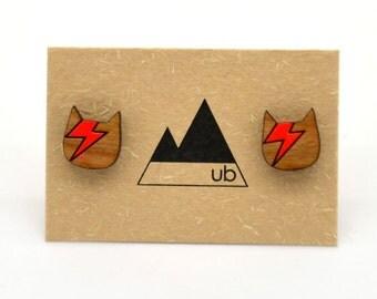 Bowie Cat! - Wood Studs