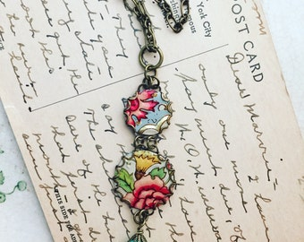 """Tin Jewelry Necklace """"Perfection"""" Tin for the Ten Year Tenth Wedding Anniversary"""