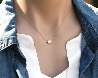 Sale-Tiny dot silver or gold or rose gold necklace,Small Karma,Diamond cut tiny dot Necklace,Bridesmaid gifts,Wedding Bridal Jewelry
