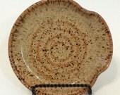 Pottery Spoon Rest, Handmade Stoneware, Neutral Kitchen Decor, Lauren Bausch