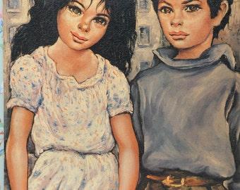 Big Eyed Art Print, Friendship by Etienne Roth