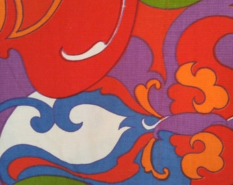 60s psychedelic fabric panel by Bloomcraft