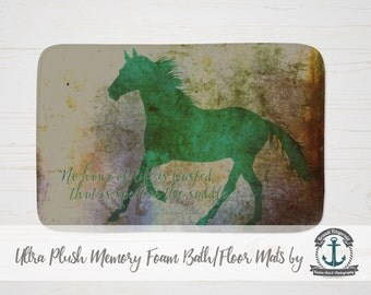 """Plush Bath Mat 34x21"""" - No Hour of Life is Wasted 