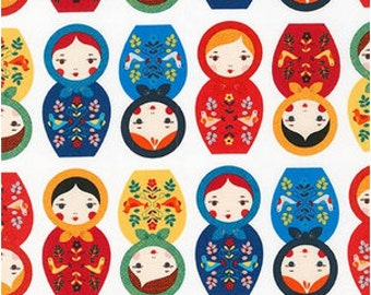 Country Matryoshka Dolls From Robert Kaufman's Little Kukla Collection by Suzy Ultman