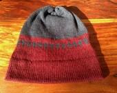 Knit hat, geometric pattern