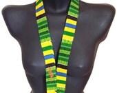 African Kente Unisex Lanyard | Kente Cloth | Embroidered Lanyard | Fabric Lanyard | Work Badge Swivel-hook Lanyard by Hamlet Pericles