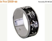 Grateful Dead Dancing Bears Sterling Silver Band Ring,