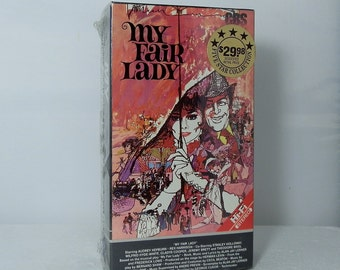 Vintage BetaMax Video My Fair Lady Unopened Original Factory Seal Collectible Beta Video Tape