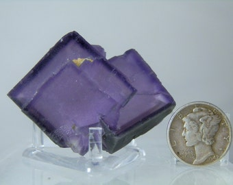 Fluorite Specimen Display Crystal 44 gram Rare Natural Purple Fluorite Crystal Cluster Mineral Specimen DanPickedMinerals