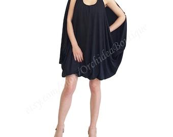 BERRY little black dress mini tunic midi multi way drape  spring women sleeveless knee-length oversized