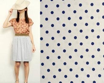 ON SALE Handmade polka dots skirt [Marine Forest ]