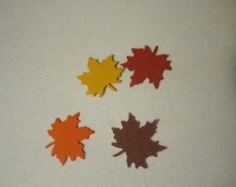 small fall leaf die cuts