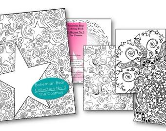 Zentangle Coloring Book | Collection No 3. The Cosmos