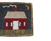 """Fredericksburg Rugs - Completed Rug Hooking - Home - Laurice Heath - 10"""" x 10"""" - Hooked Rug Art - Craft Supplies - Rug Wool"""