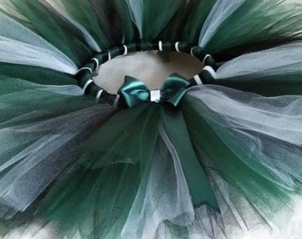 Green Black Tutu, Green Black White Tutu, Sports Tutu, Football Tutu, Ladies Womens Tutu