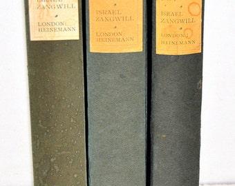 3 Israel Zangwill Titles, 1921-1928, Hardbacks