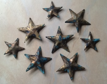 HEAVENLY cluster of 8 hand made stars