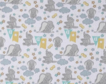 Disney Fleece Dumbo White Fabric by the yard