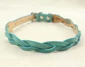 Braided Leather Collar for Medium/Large Dogs