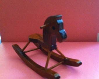 Rustic Hobby Horse For Dollhouse Nursery,Dollhouse Furniture,