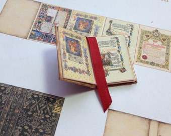 PDF Medieval Book for Dollhouse Miniature 1/12 Scale DIGITAL DOWNLOAD
