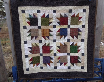 Bear Paw Quilt, Bears Wear Plaid, , Country Quilt 0229-02