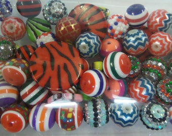 Destash, 18mm plus Beads, NOT Paired, 50 beads or more, NP50O