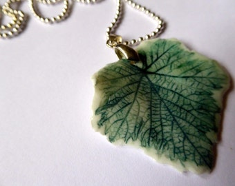 Leaf Pendant No: 9, Porcelain, May Trends, Summer Finds, Fun Jewellery