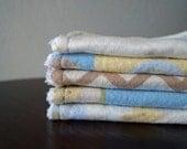 Neutral Baby Washcloths - Animals - Chevron - Light Blue - Yellow - Tan - Baby Wash Cloths - Washcloth Set - Baby Shower Gift