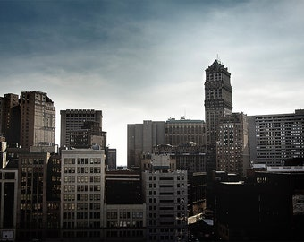 Detroit Photography - Detroit Book Tower Skyline