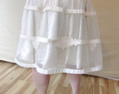 Ivory Upcycled Short Wedding Skirt/ Alternative Wedding/ Winter Wedding/ Wedding Separates/ Bridal Separates/ Winter Skirt