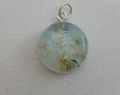 Petite Round Dandelion Wishes Round Pendant Necklace