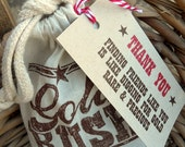 18 GOLD RUSH favor bags and tags
